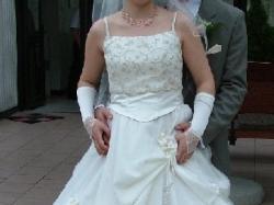 Sprzedam efektowną suknię ślubną