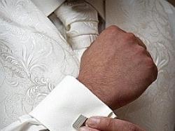 Sprzedam elegancką kamizelkę slubną w kolorze jasnego ecru!