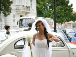 """Sprzedam elegancką suknię ślubną projektu Evy Sass model """"greczynka"""""""