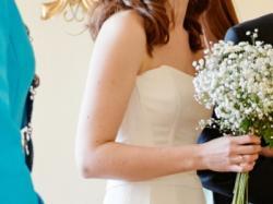 Sprzedam elegancką suknię ślubną rozm 36/34, żakiet gratis