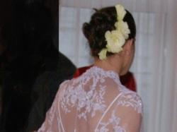 Sprzedam elegancką suknie z płaszczykiem koronkowym z salonu Nabla