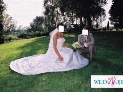Sprzedam elgancką suknię ślubną.