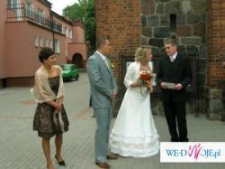 sprzedam gustowną suknię ślubną - spódnica i gorset w kolorze ecrie