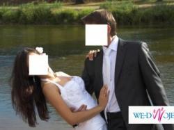 Sprzedam jednoczęściową białą suknię ślubną