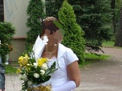 Sprzedam jednoczęściową, białą suknię ślubną.