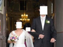 Sprzedam jedwabną suknię ślubną - Białystok