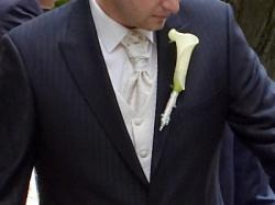 Sprzedam kamizelkę ślubną, musznik - krawat, wypustkę w stylowe wzory w kolorze