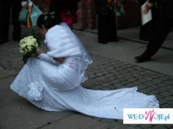 Sprzedam koronkową suknię Demetrios z salonu Lisa Ferrera