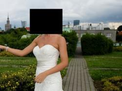 Sprzedam koronkową suknie ślubną