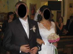 Sprzedam koronkową suknię ślubną r. 40-42