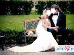 Sprzedam koronkową Suknię Ślubną Sweetheart 5897, syrena