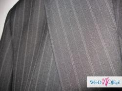 Sprzedam ładny, klasyczny garnitur z kamizelką, delikatnie prążkowany - Poznań
