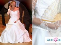 Sprzedam mieniącą się, śliczną suknię ślubną