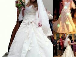 Sprzedam niepowtarzalną suknie ślubną o 2 kolorach ecru - stan idealny!
