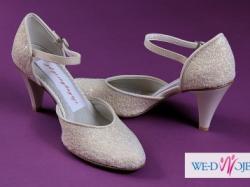 """Sprzedam nowe buty mogą być o ślubu"""" kawior ecru"""""""