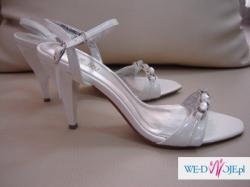 Sprzedam NOWE buty ślubne rozm.39 kolor perłowy