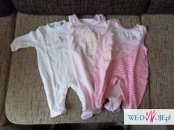 Sprzedam odzież niemowlęcą 56/62 Pajacyki, body + gratisy