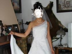 Sprzedam oryginalną francuską suknię ślubną TOMY MARIAGE