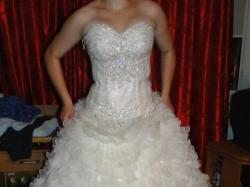 Sprzedam oryginalna Turecką sukienkę ślubną wraz z welonem