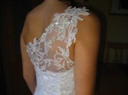 Sprzedam piękną, białą suknię ślubną- 1000 zł.