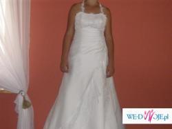 sprzedam piekna biała suknie slubna , polecam dla kobiet w ciąży,