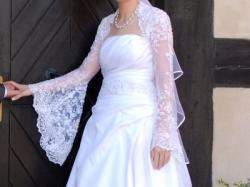 Sprzedam piękną białą suknię ślubną rozmiar 36/38