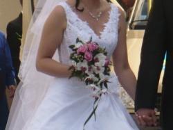 Sprzedam piękną białą suknię ślubną w romantycznym stylu:)