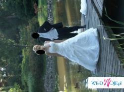 Sprzedam piękną, białą suknię śłubną w rozmiarze 36/38