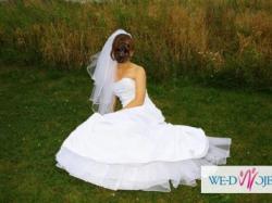 Sprzedam piękną białą suknię sweetheart 5853