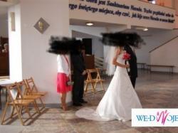 Sprzedam piękną, delikatną suknię ślubną!