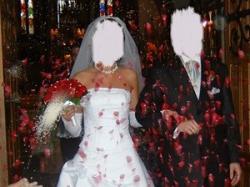 sprzedam piękną francuską suknię ślubną model DENOTO