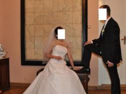Sprzedam piekną jednoczęściową suknię ślubną