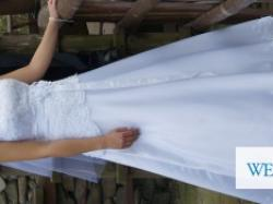 Sprzedam piękną koronkową suknie ślubną- tanio!!!. Zapraszam