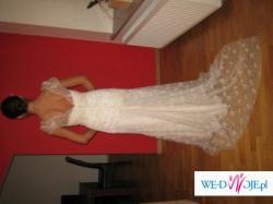 Sprzedam piekną koronkową suknię w kolorze ecru