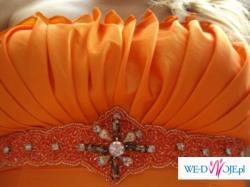 sprzedam piękną, niepowtarzalną suknię hiszpankę,  pomarańczową