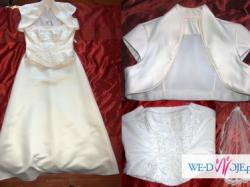 Sprzedam piękną suknie ślubna 40/42 ecru!!