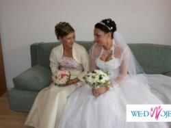 Sprzedam piękną suknię ślubną+bolerko