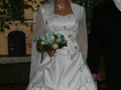 Sprzedam piękną suknie ślubną, czteroczęściowa, w idealnym stanie, rozmiar 36/38