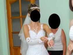 sprzedam piękną suknię ślubną + dodatki gratis