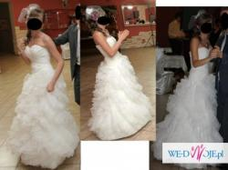 SPRZEDAM piękną suknię ślubną - Falbanki - MIRI