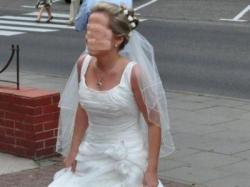 sprzedam piękną suknię ślubną hiszpańskiej produkcji