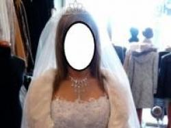 Sprzedam piękną suknię ślubną roz. 38 wraz z welonem za jedyne 500 zł.
