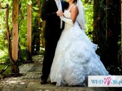 Sprzedam Piękną Suknie Ślubna typu princessa rozmiar 36/40 + gratis welon, rękaw