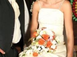 Sprzedam piękną suknię ślubną w kolorze ecri
