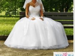 """sprzedam piekna suknie slubną w stylu """"księżniczki"""""""