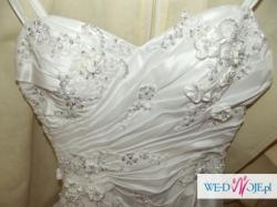 Sprzedam piękną suknię ślubną +welon