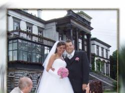 Sprzedam piękna suknie suknie ślubną białą z tiulu wyszywana brylancikami