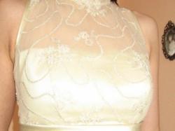 sprzedam piękną złotą suknię ślubną rozm.36