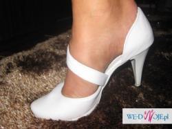 sprzedam piękne skorzane buty ślubne rozmiar 38