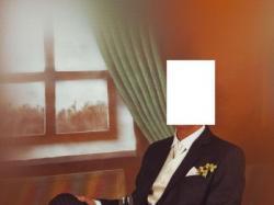 Sprzedam piękny ślubny garnitur